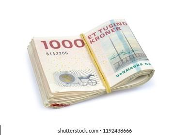 Danish krone.  ( DKK ) 1000 Krone banknotes .