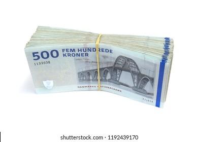 Danish krone.  ( DKK ) 500 Krone banknotes
