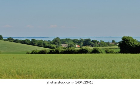 Danish landscape with a view to Horsens Fjord