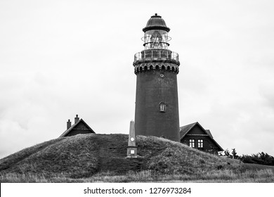 Danish lighthouse in black & white