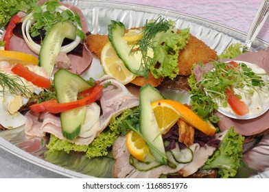 Danish open faced sandwich on-layer