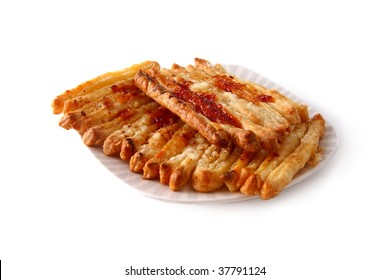 Danish pastry with honey and jam