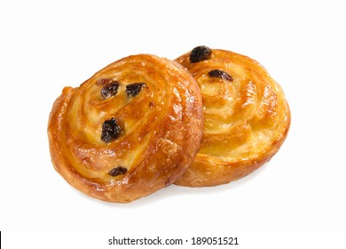 danish pastry isolated on white