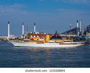 The Danish Royal Yacht Dannebrog, Copenhagen Harbour, Copenhagen, Denmark, Europe, 19. May 2016