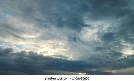 Dank cloudy sky
