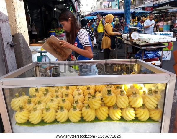 Dannoksadao Thailand 03192015 Farmers Market Dannok Stock