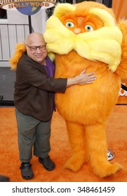 "Danny DeVito at the Los Angeles Premiere of ""Dr. Suess' The Lorax"" held at the Universal Studios Hollywood, California, United States on February 19, 2012."