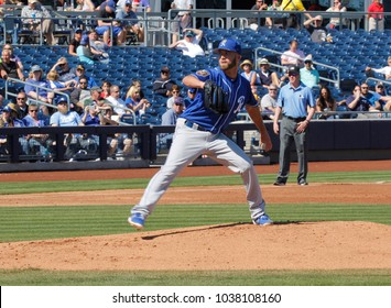 Danny Duffy, pitcher for the Kansas City Royals at Peoria Sports Complex in Peoria,AZ USA March 2nd 2018.