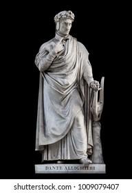 Dante Alighieri statue, by Paolo Emilio Demi, 1840. It is located in the Uffizi courtyard, in Florence.