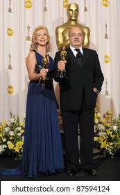 Dante Ferretti & Francesca Lo Schiavo at the 80th Annual Academy Awards at the Kodak Theatre, Hollywood. February 24, 2008 Los Angeles, CA Picture: Paul Smith / Featureflash