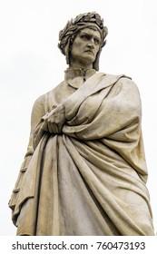 Dante statue near Santa Croce Florence Italy