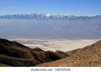 Dante's View in Death Valley National Park dramatic panoramic view of the in Death Valley basin