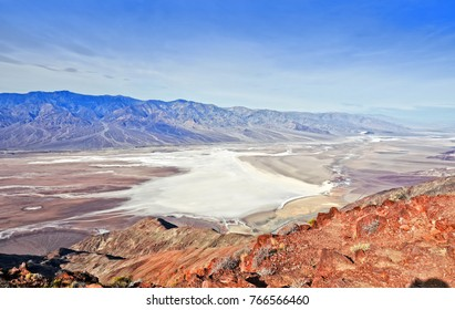 Dante's View. Dramatic panoramic view of salt shoreline. Death Valley National Park. California. USA.