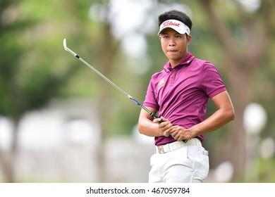 Danthai Boonma of Thailand in action during round three of the King's Cup at Phoenix Gold Golf and Country Club on July 30, 2016 in Pattaya, Thailand