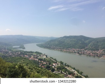 Danube bend from Visegrád, Hungary