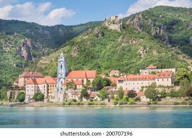 D�¼rnstein with Danube River, Wachau, Austria
