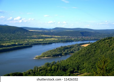 The Danube as it winds its way through Europe - view from hilltop at Visegrad, Hungary