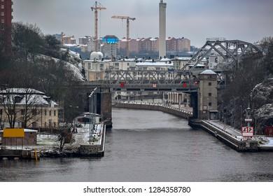 "Danviksbron or, alternatively, Danviksbro (""Danvik Bridge"") is a bascule bridge in central Stockholm, Sweden, connecting the eastern end of Sodermalm to the eastern municipality Nacka."