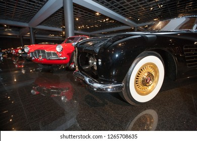 Danville, CA - June 6, 2009: Blackhawk Auto Museum classic cars on display during a private event.