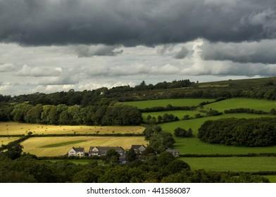 Dappled light over Meavy, Devon UK