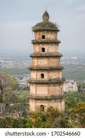 Daqin Pagoda - Buddhist pagoda near Louguantai temple near Xian. The pagoda has been controversially claimed as a Nestorian Christian church from the Tang Dynasty.