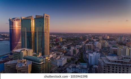 Dar es salaam aerial city scape - Shutterstock ID 1055941598