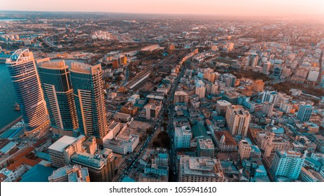 Dar es salaam aerial city scape - Shutterstock ID 1055941610