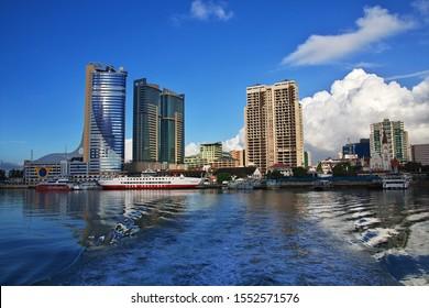 Dar es Salaam / Tanzania - 30 Dec 2016: The view on marina of Dar es Salaam city in Tanzania