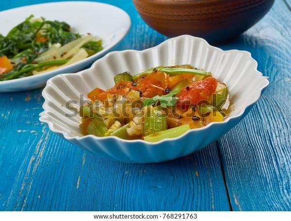 Daraba - vegetable stew,  cuisine of Chad, African cuisine