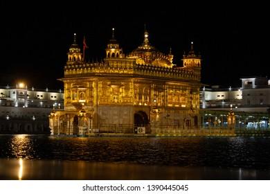 Darbar Sahib at Night- Amritsar, Punjab, India