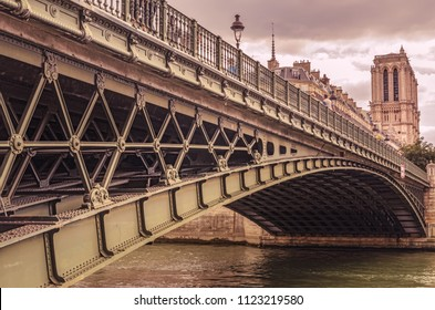 D`Arcole Bridge and Notre Dame