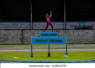 DAREN SAMMY CRICKET GROUND, ST LUCIA, UAE-13th SEPTEMBER 2017:-The Daren Sammy cricket ground named after the ex captain of the West Indies cricket team