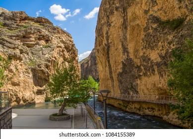 Darende Malatya, Turkey Somuncu father's tomb and river