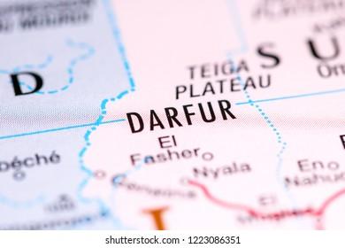 Darfur. Africa on a map