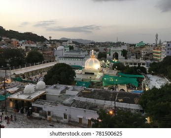 The dargah of Moinuddin Chishti, known as Ajmer Sharief Dargah or Ajmer Sharief, India.