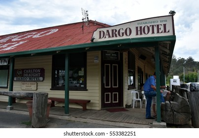 Dargo, Australia - December 25, 2016.  The Dargo Hotel was established in 1898. Dargo is a historic town in Victoria, Australia, an entry point for the Alpine National Park.