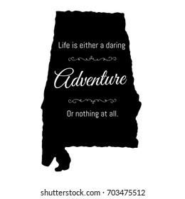Daring Adventure Alabama Typography Design