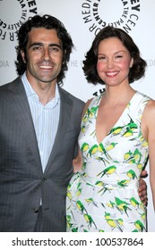 """Dario Franchitti and wife Ashley Judd at the Paley Center for Media Premiere Screening and Panel for """"Missing,"""" Paley Center For Media, Beverly Hills, CA 04-10-12"""
