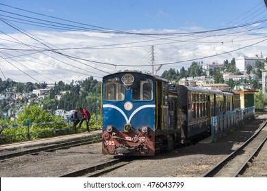 DARJEELING, INDIA - Aug 5,2016 : The Darjeeling Himalayan Railway, is a 2 ft narrow-gauge railway from Siliguri to Darjeeling in Darjeeling, India.