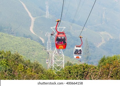 DARJEELING, INDIA - NOVEMBER 18, 2015: The Darjeeling Ropeway is a ropeway in the town of Darjeeling in the Indian state of West Bengal