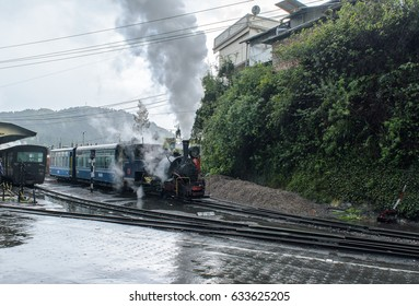 Darjeeling, west bengal, India on May 01,2017.The Darjeeling Himalayan Railway, also known as the Toy Train, is a 2 ft narrow gauge railway that runs between New Jalpaiguri and Darjeeling .