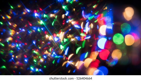 Dark Abstract Out of Focus Christmas or Party Background
