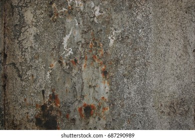 Dark aged gray rust wall texture background