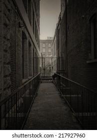 Dark alley In VIctoria