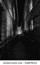 Dark alleyway in the central city