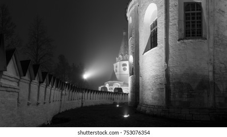 Dark area of Suzdal Kremlin