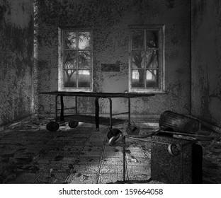 Dark Asylum Scary Interior Background