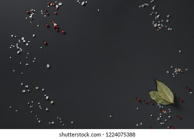 Dark background for food decorated to use in menu
