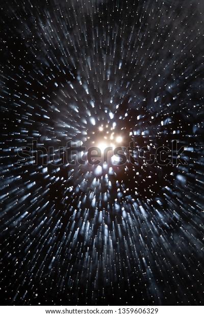 Dark Background Lights Shaped Explosion Stars Stock Photo Edit Now 1359606329