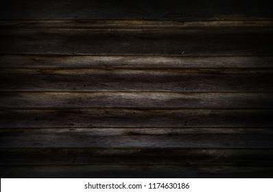 Dark background or wallpaper of overlap wooden wall horizontally have damage of old.
